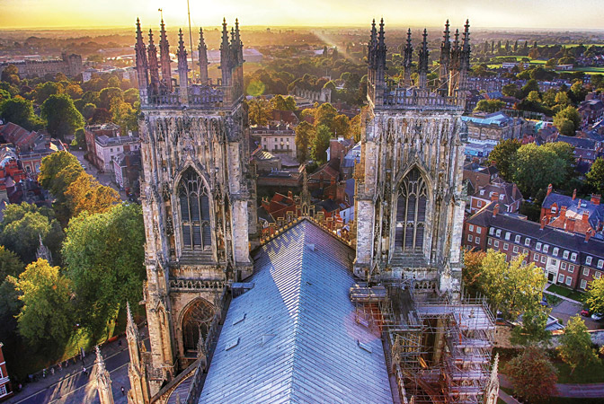 york minister building two towers