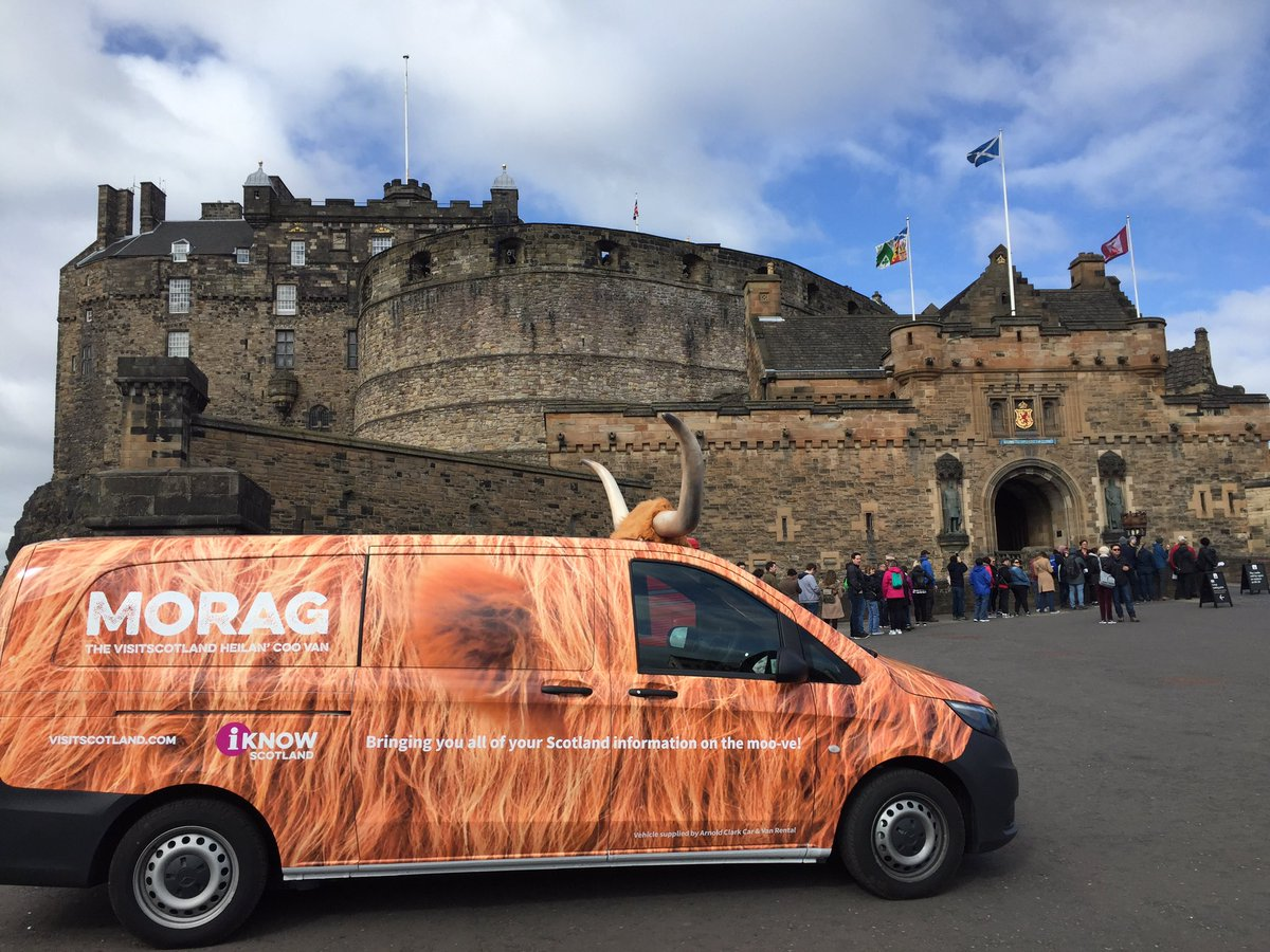 highland cow van at Edinburgh Castle