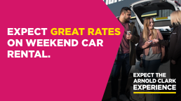 Expect great reates on weekend car rental