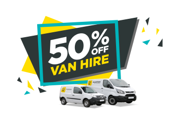 50% off van hire